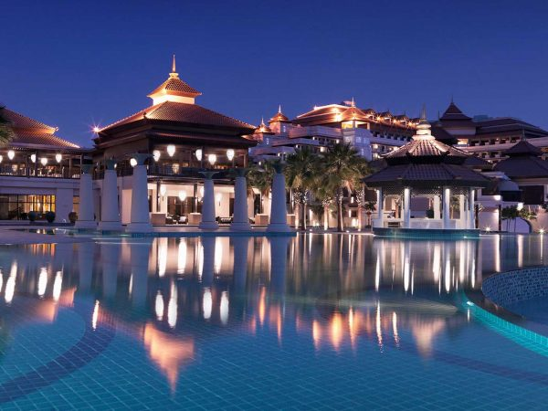 Anantara The Palm Dubai Resort Night Pool View