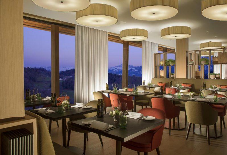 Burgenstock Hotel Alpine Spa Verbena Restaurant Bar