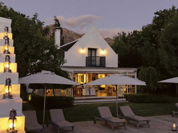 Grande Provence Heritage Wine Estate Pool Evening