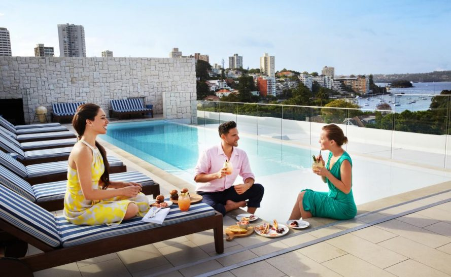 Intercontinental Hotel Double Bay Sydney rooftop pool