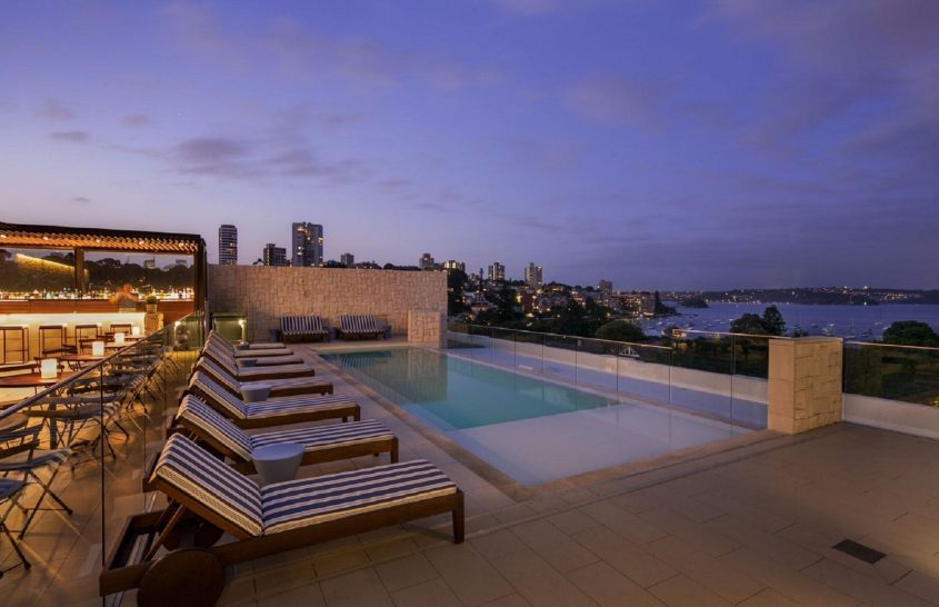 Intercontinental Hotel Double Bay Sydney rooftop pool and bar