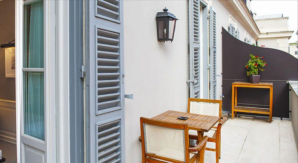 J.K. Place Roma Junior Suite Balcony