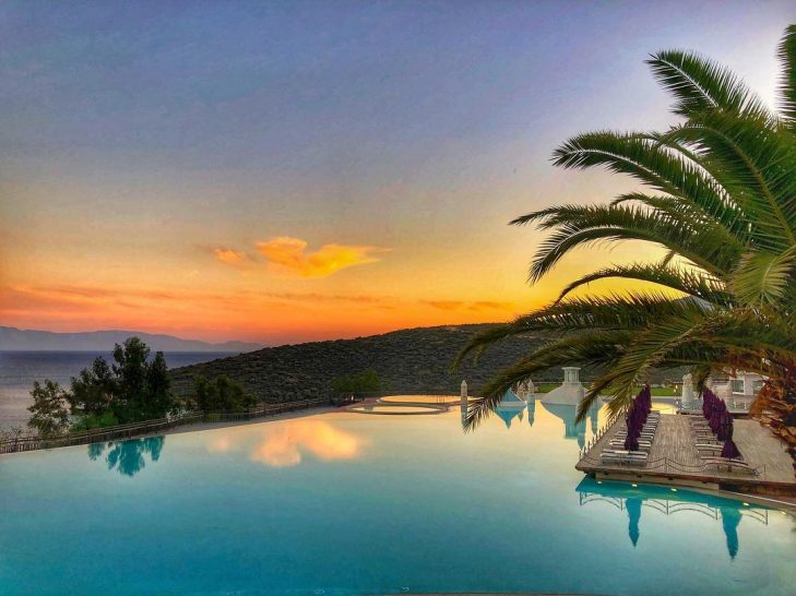 Kempinski Hotel Barbaros Bay Bodrum pool sunset