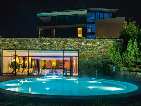 Kempinski Hotel Berchtesgaden Pool Night View