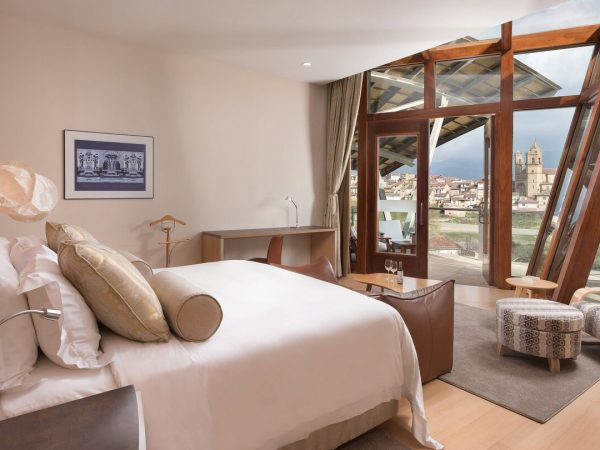 Marques de Riscal, a Luxury Collection Elciego Gehry Suite Presidential Suite, 1 King, Elciego Village View, Mountain View, Gehry Building