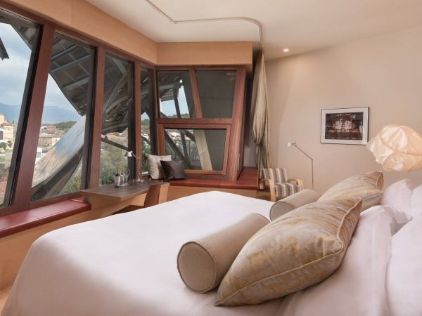 Marques de Riscal, a Luxury Collection Elciego Premium Gehry Guest room, 1 King, Elciego Village View, Mountain View, Gehry Building