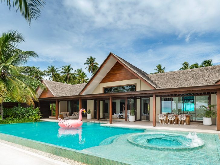 Niyama Private Islands Maldives Three Bedroom Beach Pool Pavilion