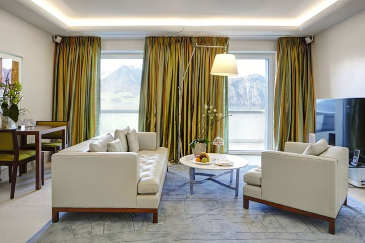 Park Hotel Vitznau Suite With Lake View