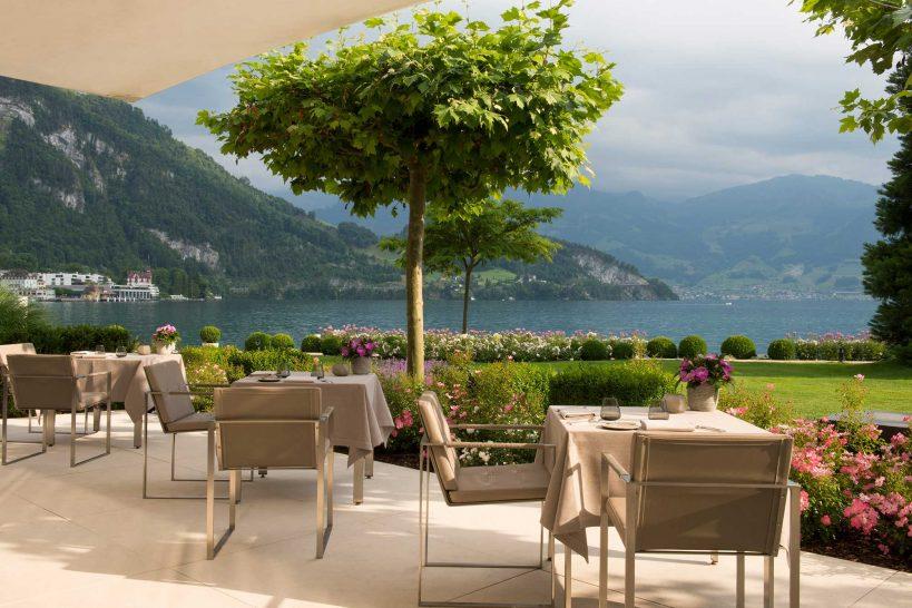 Park hotel vitznau focus restaurant terrace