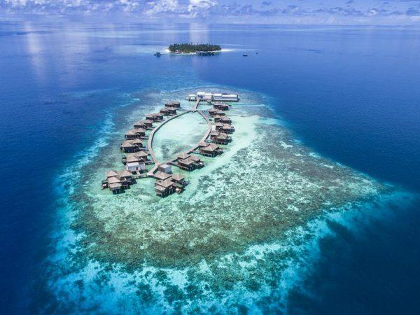 Raffles Maldives Meradhoo Arial View