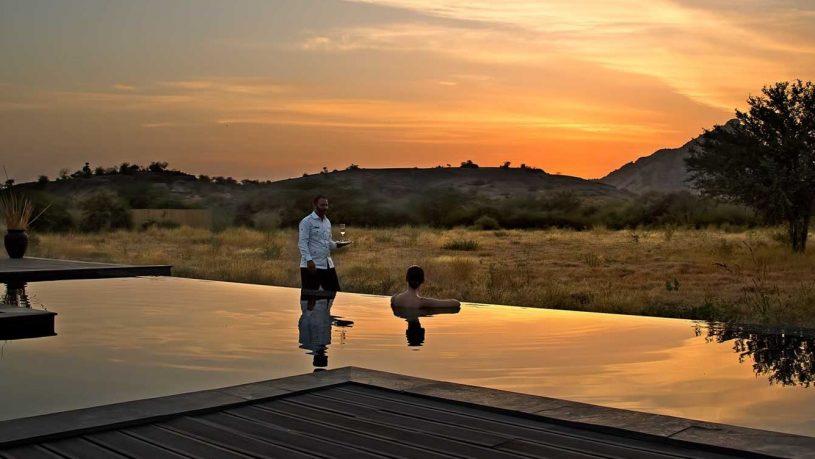 Sujan Jawai leopard camp pool