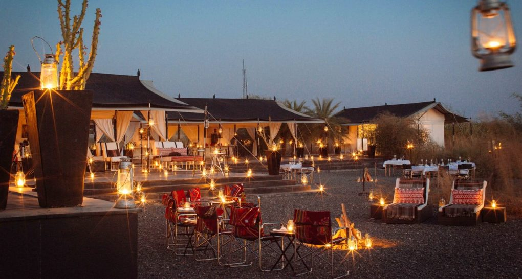 Sujan Jawai leopard camp sunset dining