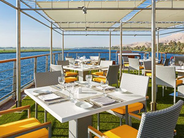 The Oberoi Philae Nile Cruise Poolside Restaurant