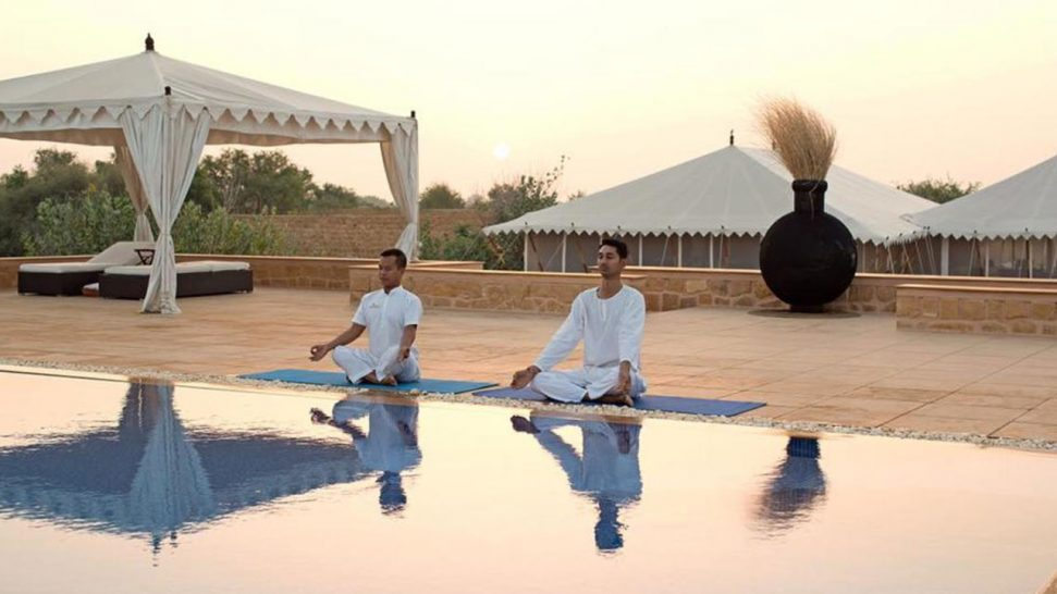 The Serai Camp Relais and Châteaux Yoga