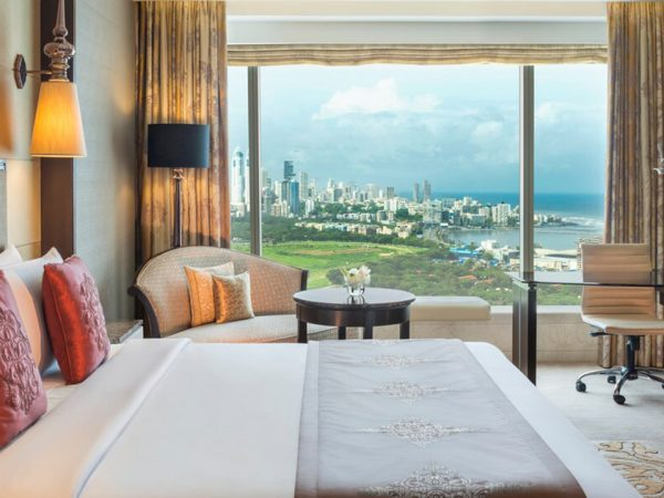 The St. Regis Mumbai Grand Deluxe Guest room, 1 King, Partial sea view