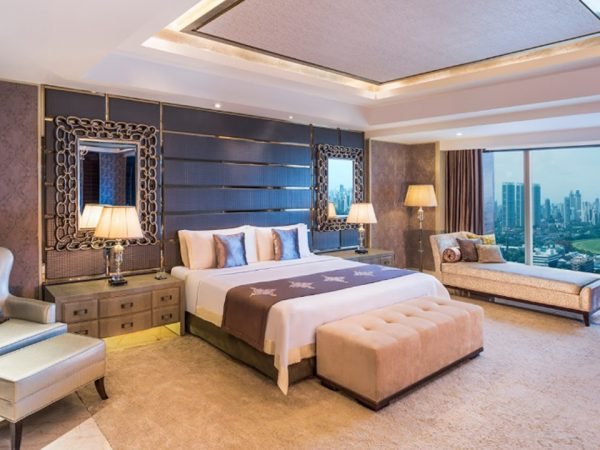 The St. Regis Mumbai Grand Deluxe Guest room, 2 Twin Single Bed(s), Partial sea view