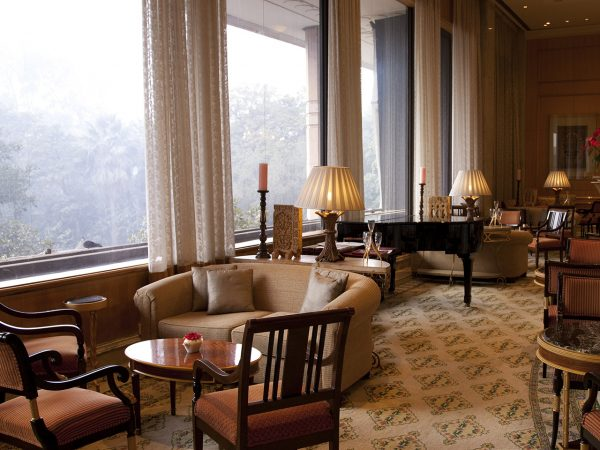 Dining Emperor Lounge at The Taj Mahal Hotel New Delhi