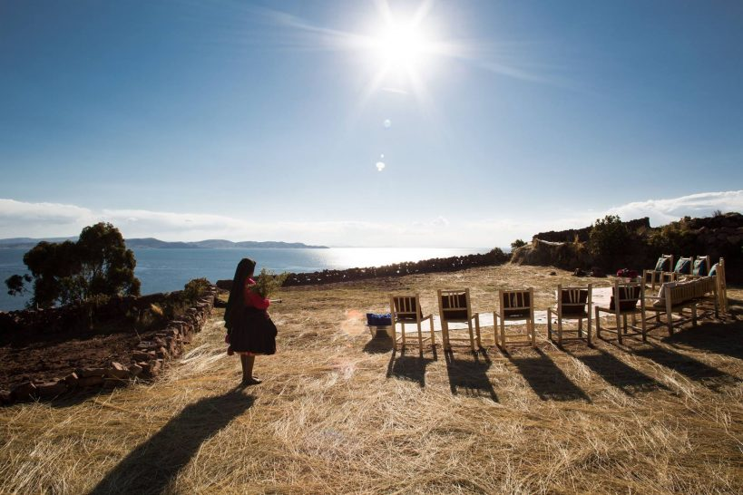 Titilaka Boutique Hotel Lake Titicaca Sundowners