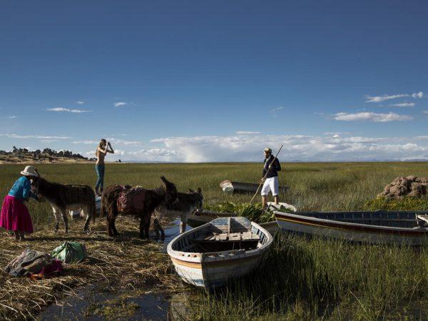 Titilaka Titicaca Lake Rafting through the Reeds