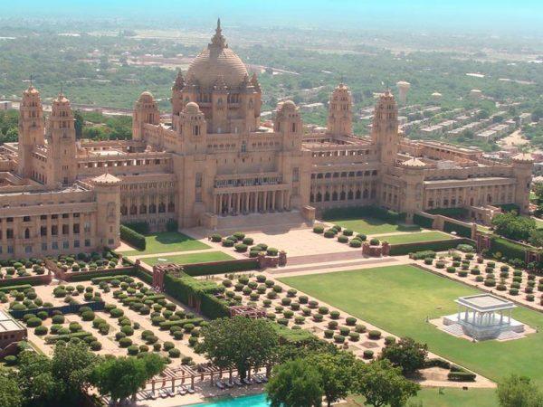 Umaid Bhawan Palace Aerial view