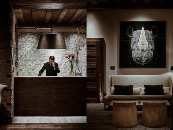 Alpina Gstaad Lobby Reception