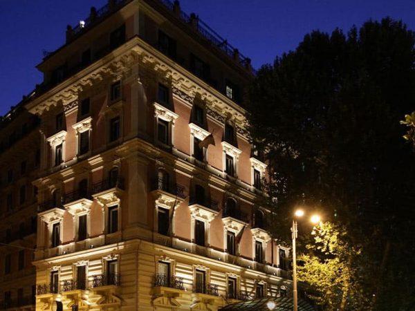 Baglioni Hotel Regina Rome Night View