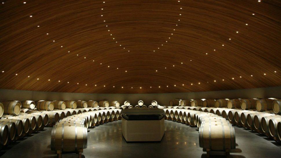 Clos Apalta Residence wine cellar