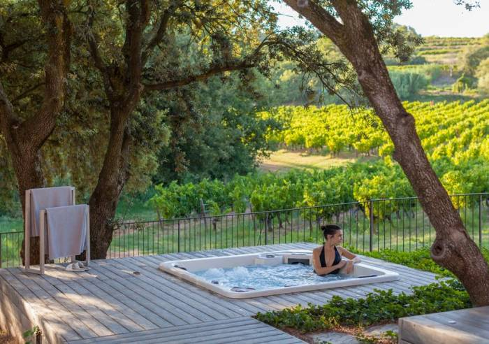 Coquillade Village Provence Spa Outdoor Jacuzzi