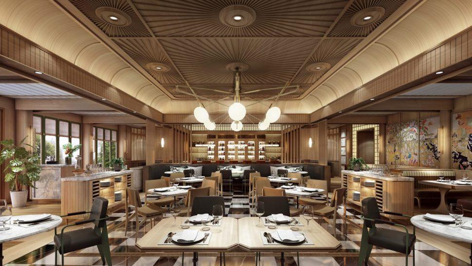 Four Seasons Hotel Bangkok Chao Phraya River Brasserie Palmier