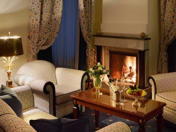 Grand Hotel Kronenhof Fireplace Suite
