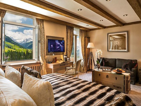 Gstaad Palace Corner Suite Mountain View