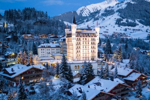 Gstaad Palace Exterior Winter