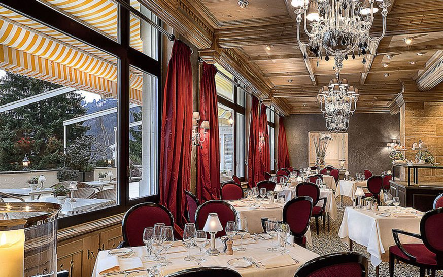 Gstaad Palace Le Grand Restaurant and La Grande Terrasse