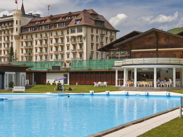 Gstaad Palace Pool View