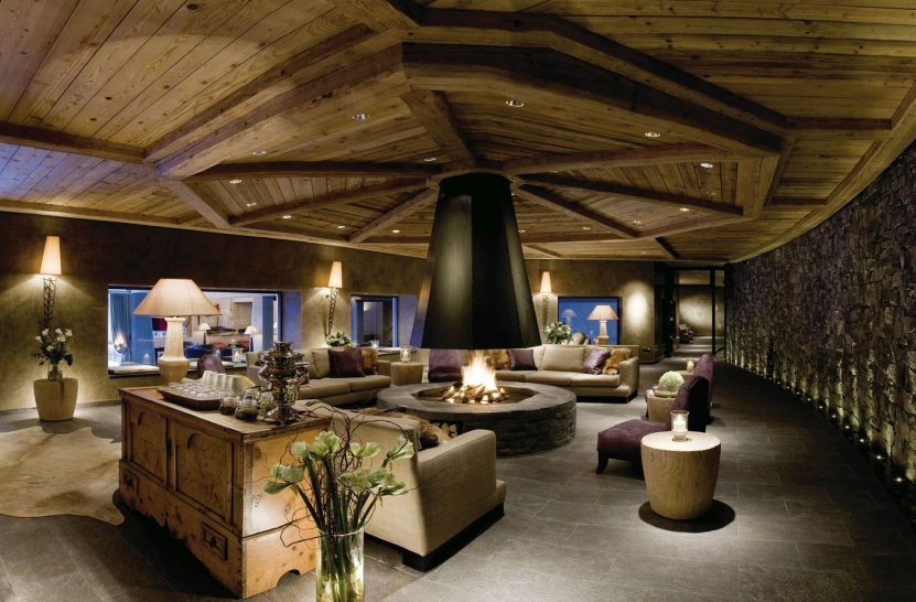 Gstaad Palace Spa Fireplace Lounge