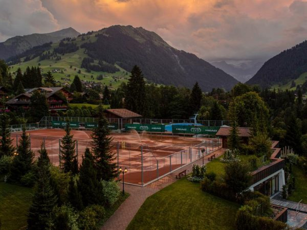 Gstaad Palace Sunset View