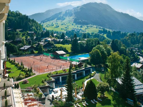 Gstaad Palace Top View