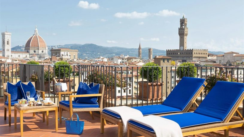 Hotel Lungarno Florence rooftop terrace