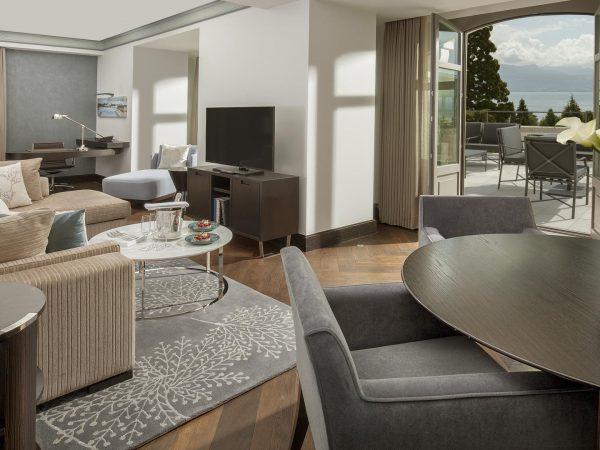 Hotel Royal Savoy Lausanne Executive Terrace Suite