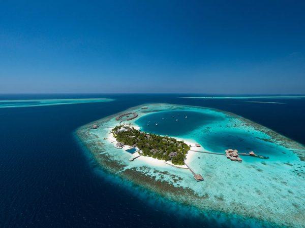 Huvafen Fushi Maldives Aerial
