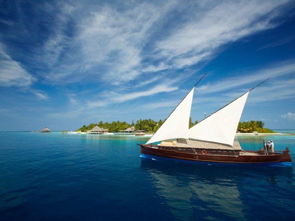 Huvafen Fushi Maldives Boat
