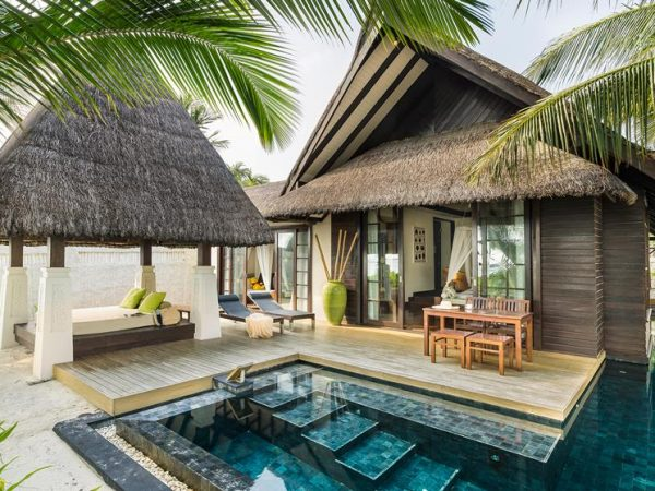 Jumeirah Vittaveli Maldives Beach Villa with Pool Sunrise