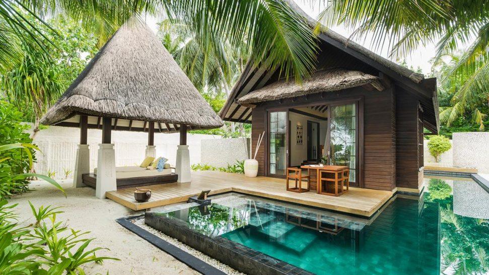 Jumeirah Vittaveli Maldives Beach Villa with Pool Sunset