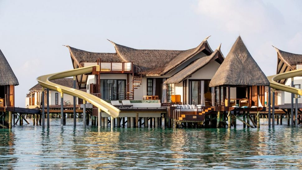 Jumeirah Vittaveli Maldives Infinity Pool Ocean Villa with Slide