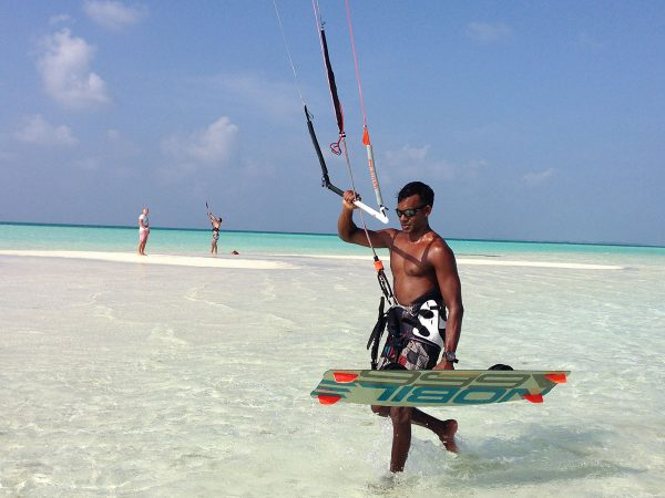 Kudadoo Maldives Private Island Kitesurfing