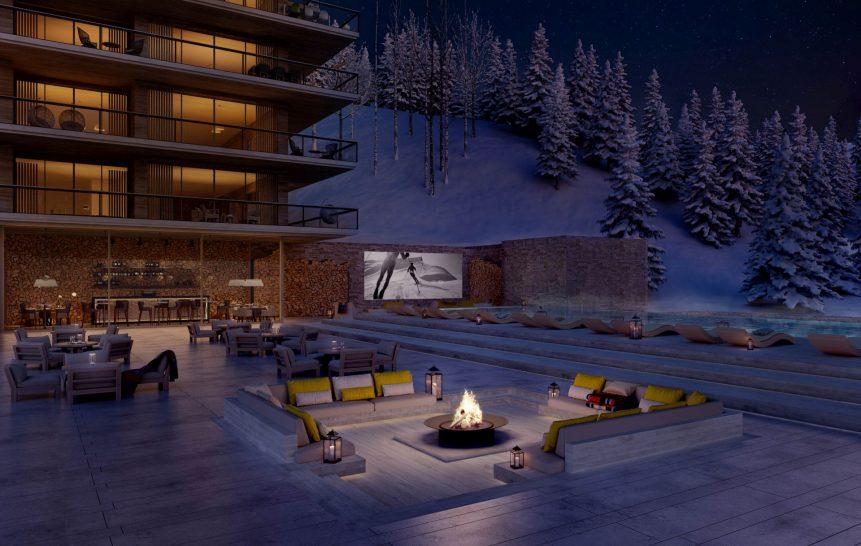 Six Senses Residences Crans Montana Outdoor Pool and Cinema