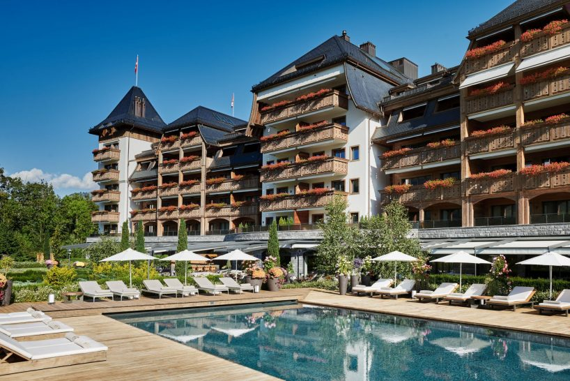 The Alpina Gstaad Summer Exterior
