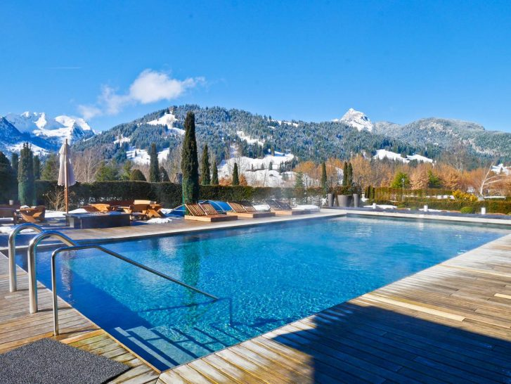 The Alpina Gstaad Summer Pool