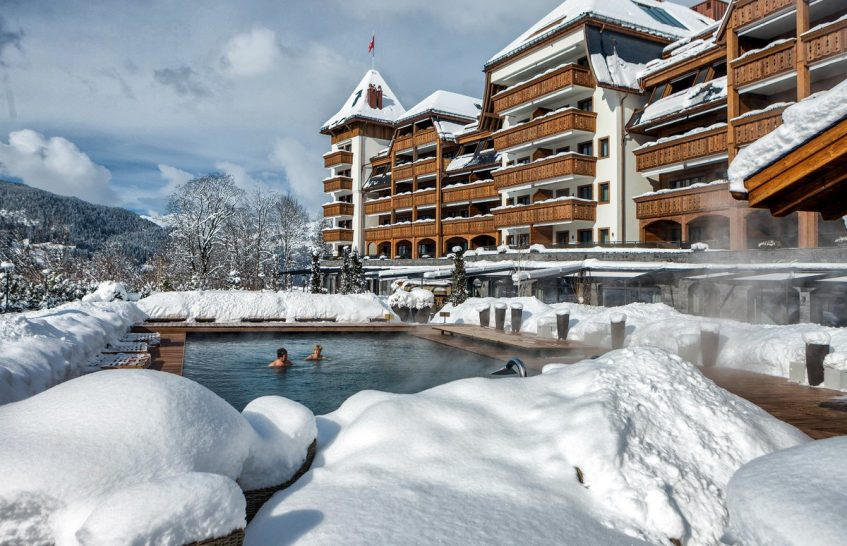 The Alpina Gstaad Winter Pool