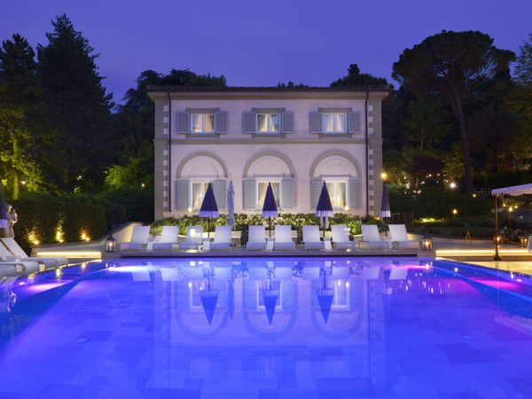 Villa Cora Night Pool View